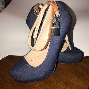 Justfab denim high heels